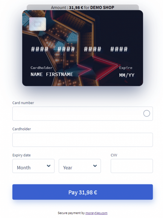 A beautiful and impressive payment page