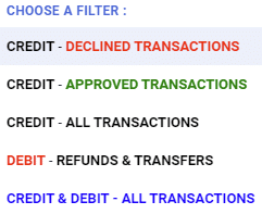 Sort through your transactions in record time